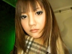 Hawt charming sexy lengthy haired oriental legal age teenager blowing rod unfathomable