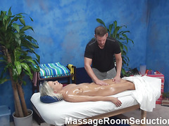 The golden-haired honey felt beefy temptation to have sex with masseur in the pont of time when this chab entered the massage room. Fellow wasn't against of screwing her nicely. See blondie giving a head in advance of wild sex.