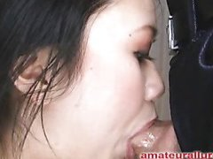 Carmina is a nice-looking 20 year old Asian student, with a cute little body and an extraordinary lust for dick. It appears that Carmina has sucked off about 50 guys! That's a big number for someone still in college. That Hottie is too blessed with not having a gag reflex so that hottie is able to take a schlong down her face hole out of an issue. Amazing! After that hottie deep face holes my ding-dong numerous times, I bend her over and fuck her tight little hairless fur pie. This Hottie wishes my load in her mouth, so shen acquires on her knees and recieves my full cum shot into her face hole and swallows it down. This Hottie is a excellent shlong sucker and a great fucking lay.