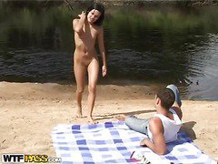 When a stud takes his hot babe and a camera to the beach, u know what to expect. A hot non-professional outdoor sex film! Luckily, the darksome brown sexdoll has no shame and willingly performs an bizarre deep face hole right on the beach, not giving a damn that anybody might see it. Then things acquire way hotter as the lustful couple begins fucking like insane, filming it all for this hawt beach porn. So sit back and have a enjoyment their cool vid!