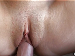 Breathtaking darksome brown beauty sucks big wang and acquires bawdy cleft screwed