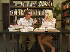 We all know that Kagney Linn Karter isn't a model student.  All that honey desires to do is acquire some hard cock between her legs.  That Chick tells her study boyfrend here that that honey doesn't crave to do homework, just fuck and engulf, then let the cum leak out and onto her books.