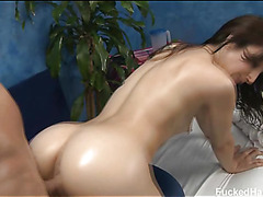 Hawt 18 year old gril receives screwed hard from behind by her massage therapist